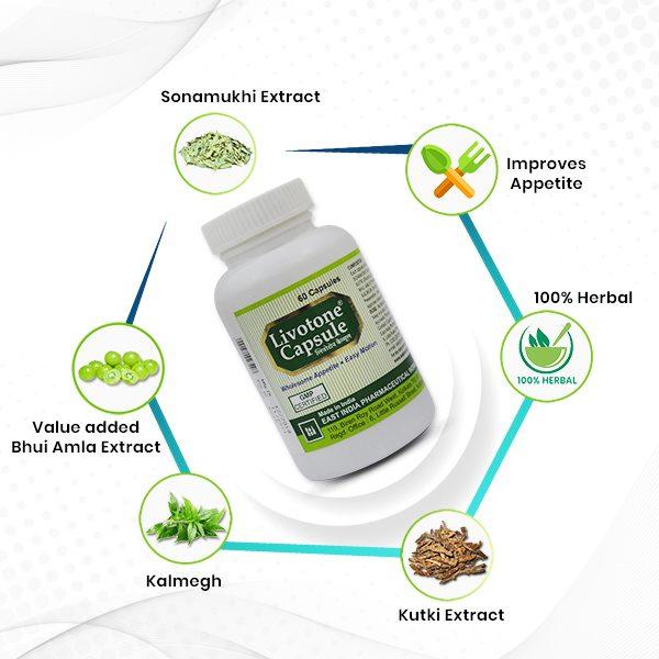 herbal liver control capsules livotone benefits