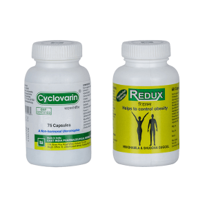 Weight Management and Menstruation control medicines - Cyclovarin & Redux